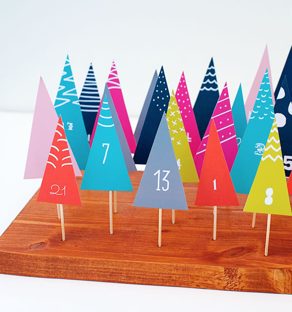 DIY: calendario de Adviento con cartulina