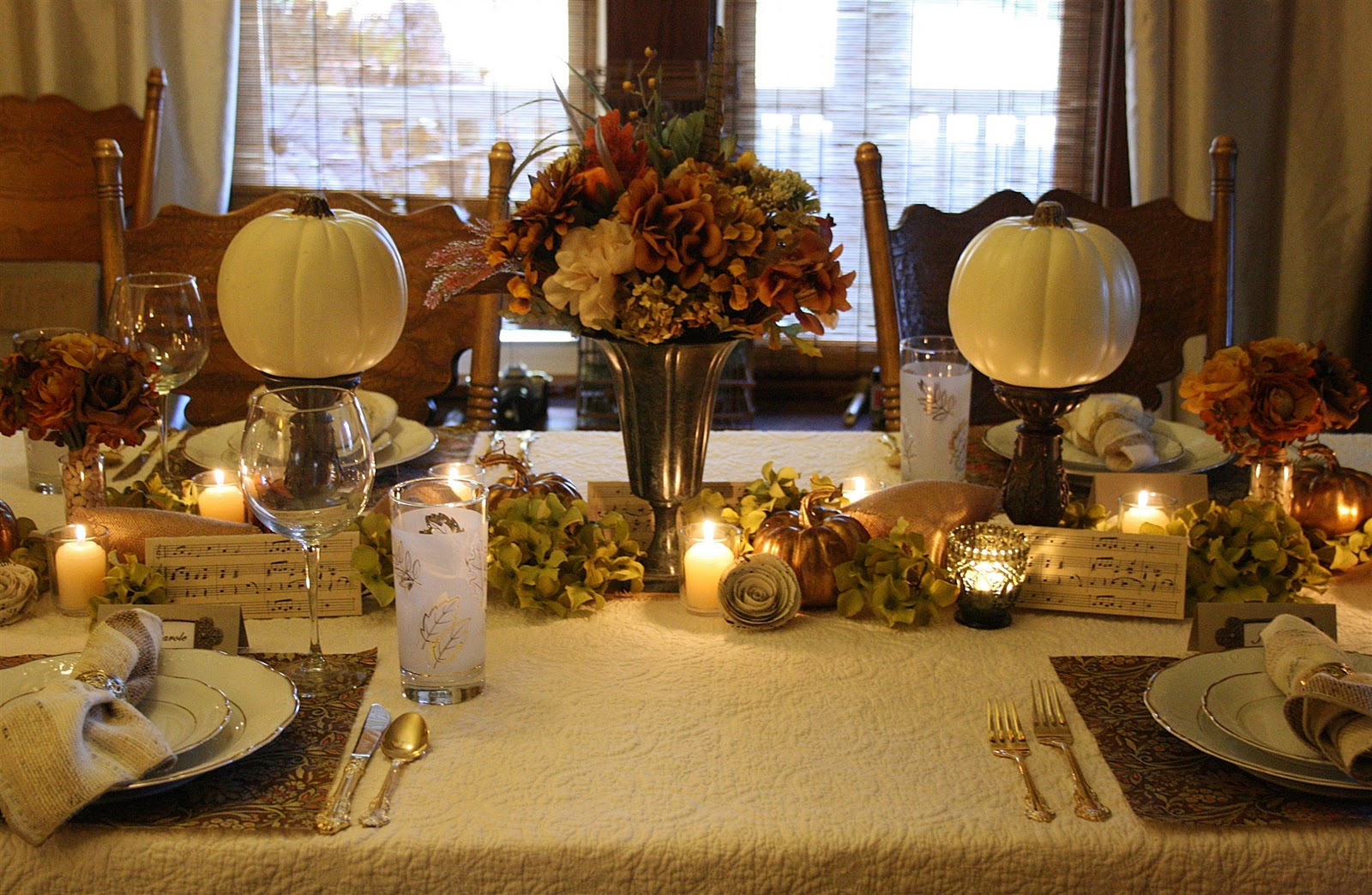 A Rustic Elegant Thanksgiving Tablescape Celebrating The