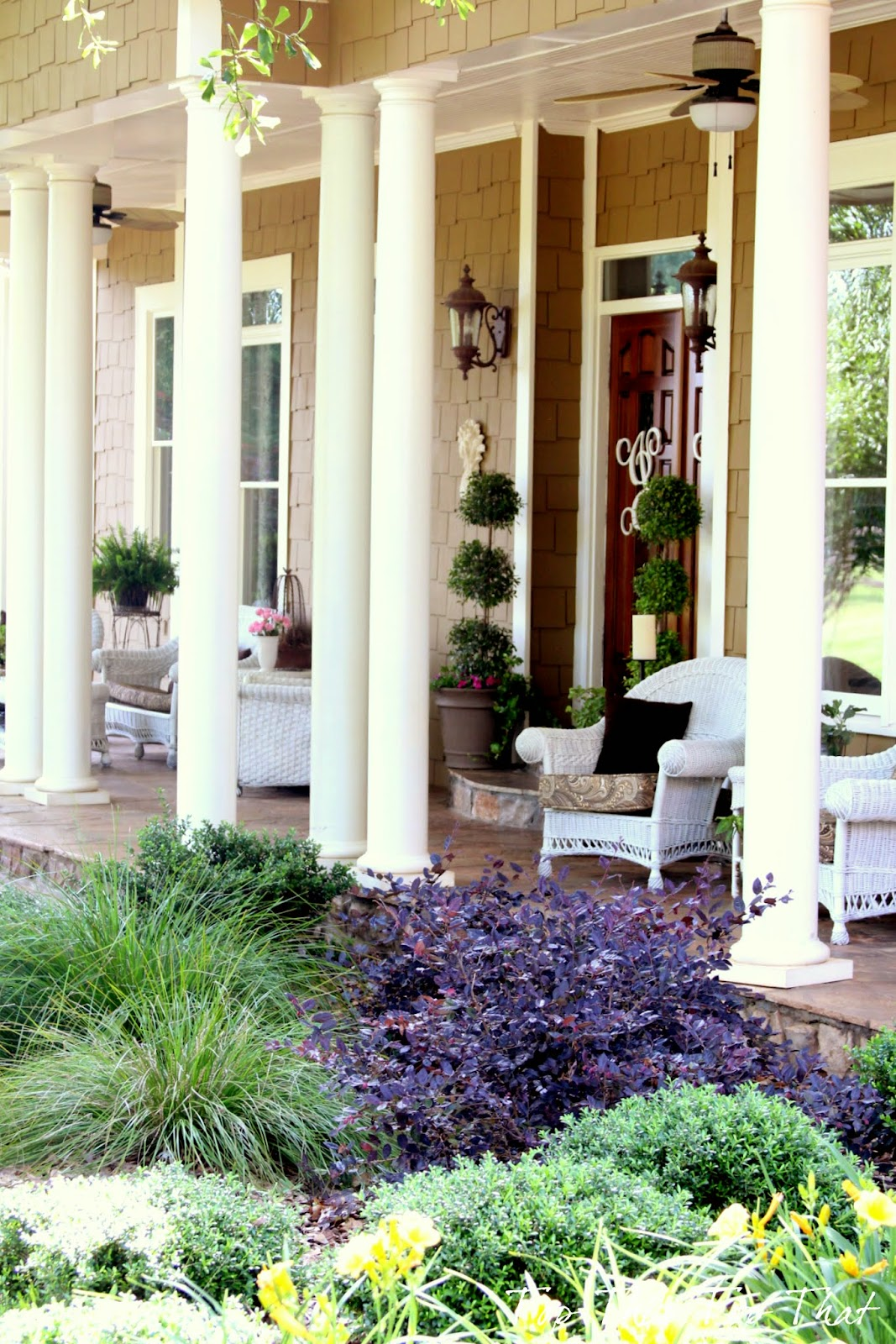My Summer 'Southern' Front Porch - Duke Manor Farm