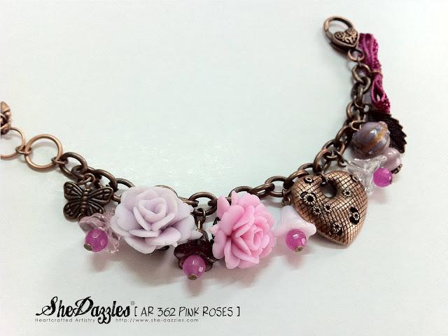 pink-rose-pastel-charm-bracelet-malaysia