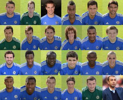 Chelsea FC Squad 2012-2013-passport