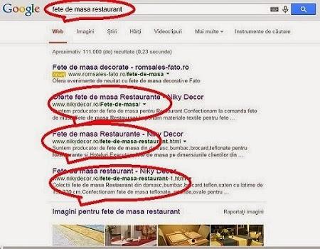 Optimizare web site - Promovare online google