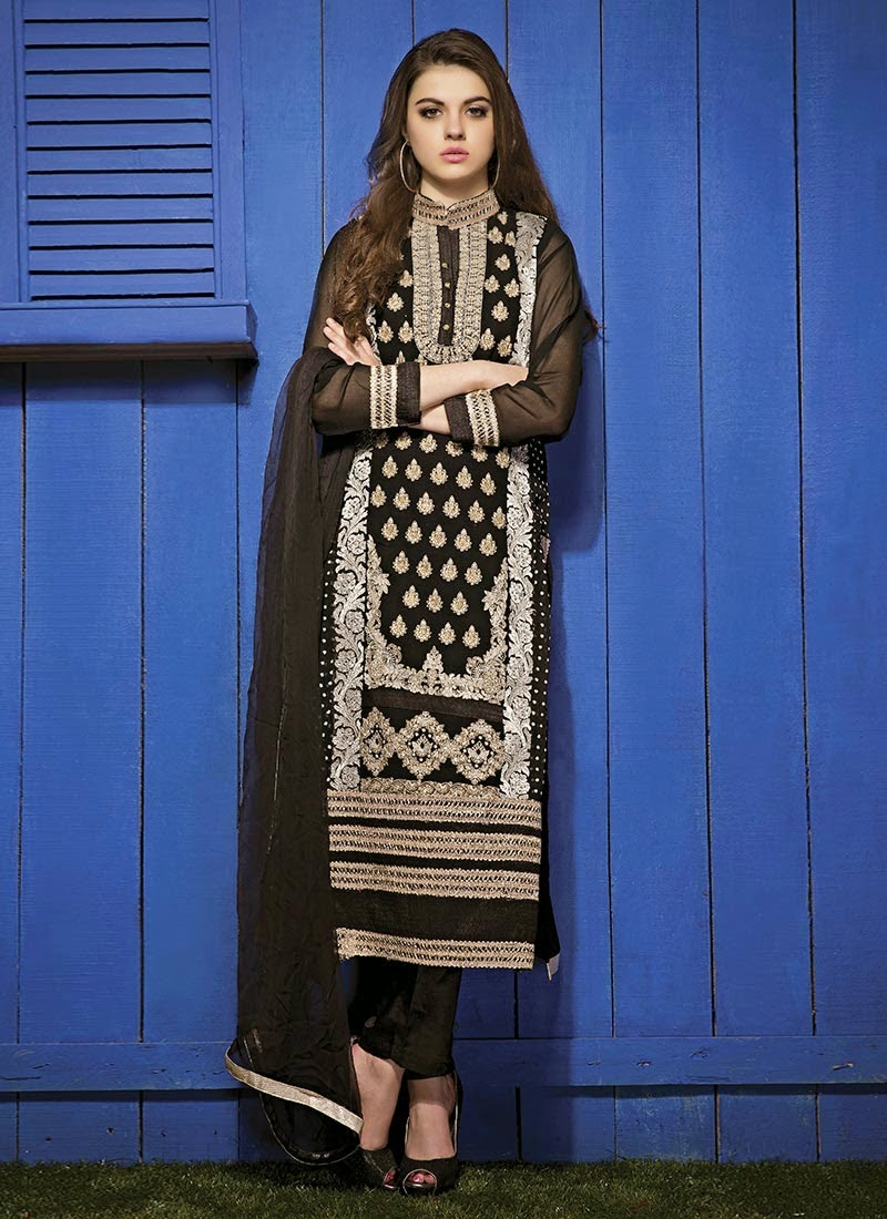New Designer Pakistani Style Long Length Anarkali Suit