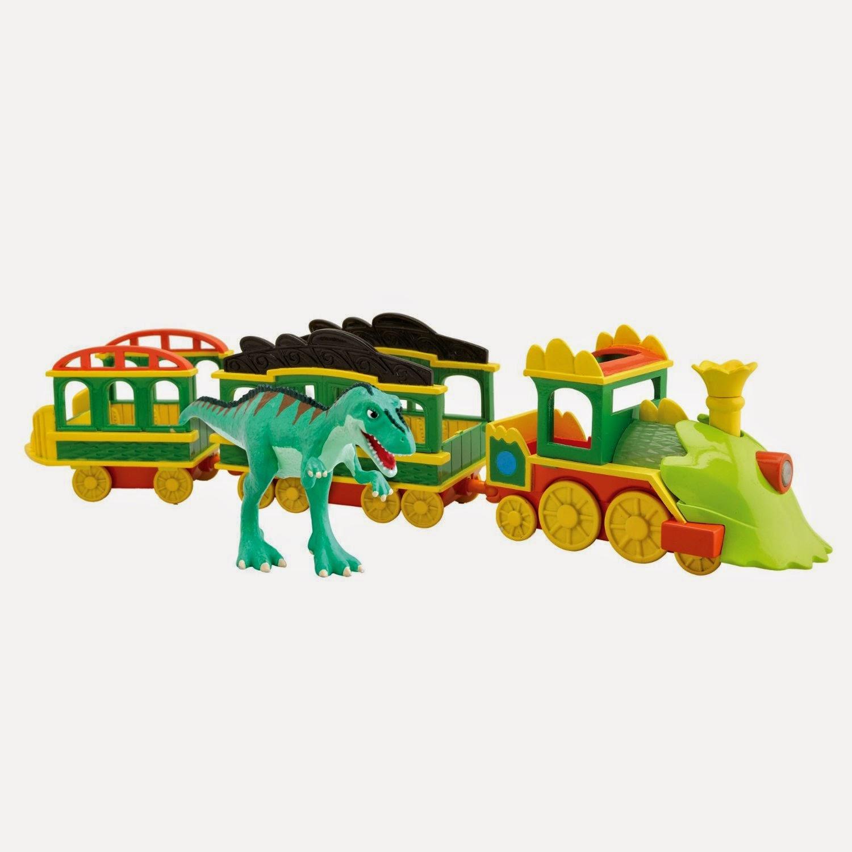 JUGUETES - DINOTREN  El Tren de los Dinosaurios Luces y Sonidos  con Laura Giganotosaurus  Producto Oficial | Tomy LC53010MP | A partir de 3 años