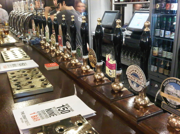 There's lots of standing room (to perve over the pump clips and fridge ...