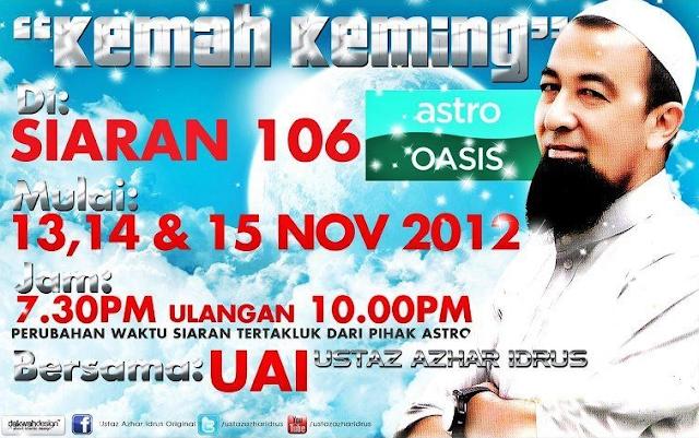 Kemah Keming Ustaz Azhar Idrus Live di Astro Oasis