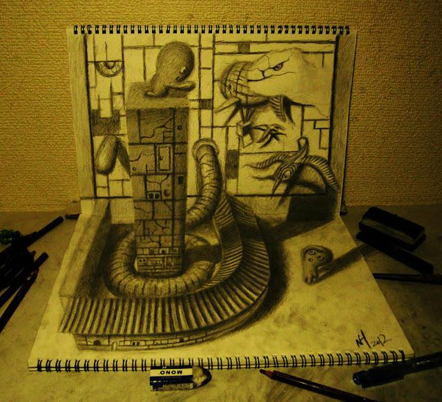 لوحات ثلاثية الأبعاد 3D+Pencil+Drawings+04