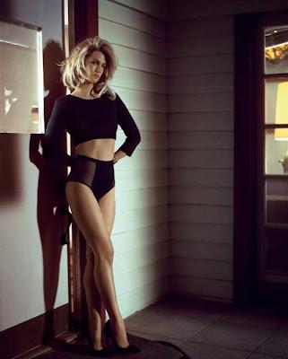 January Jones Vogue Italy magazine august 2014