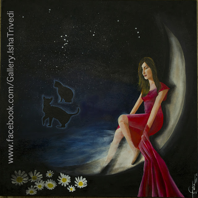 "Norse Goddess Freya Painted by Isha Trivedi ""Isha Trivedi"""