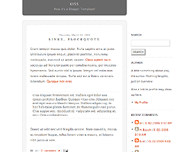 Kiss Blogger Template