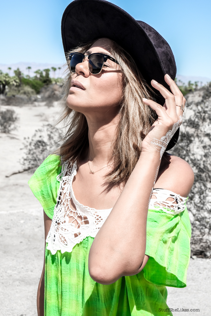 maxi dress, forever 21 hat, Kitsch tattoos, white tattoos, temporary tattoo's, blogger, top blogger, top ten fashion bloggers, palm springs fashion, what to wear to palm springs, rayban clubmaster sunglasses