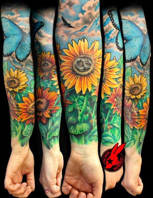 Jardim de Girassóis - Jack Rabbit - Tattoo Feminina