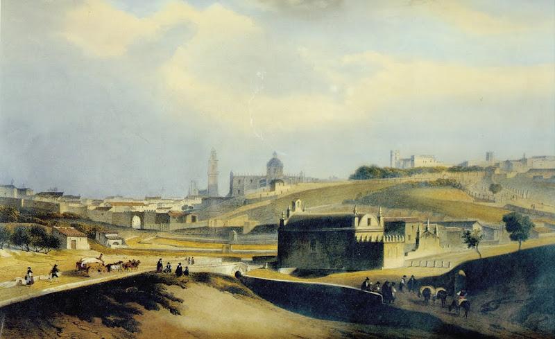 Jerez. La Ermita de Guía en primer plano. (grabado)