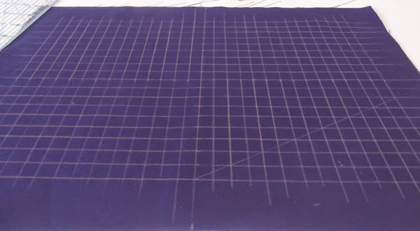 grid on a fabric, grid of squares, horizontal and vertical lines on fabric
