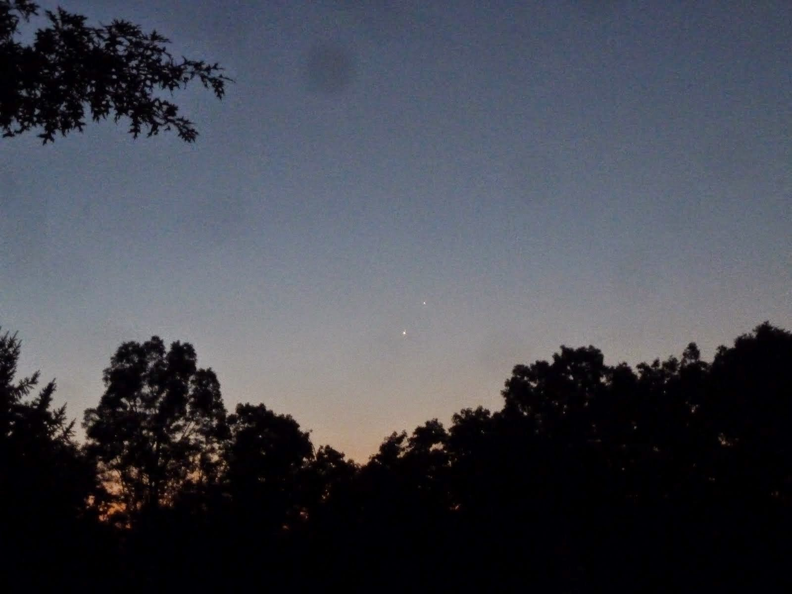 Venus and Jupiter - One Day Later