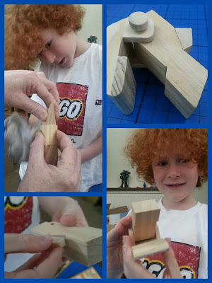 building a wooden T-Rex model