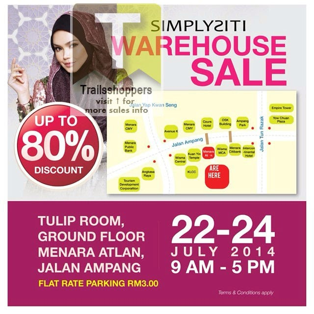 Simplysiti Warehouse Sale 2014 offers