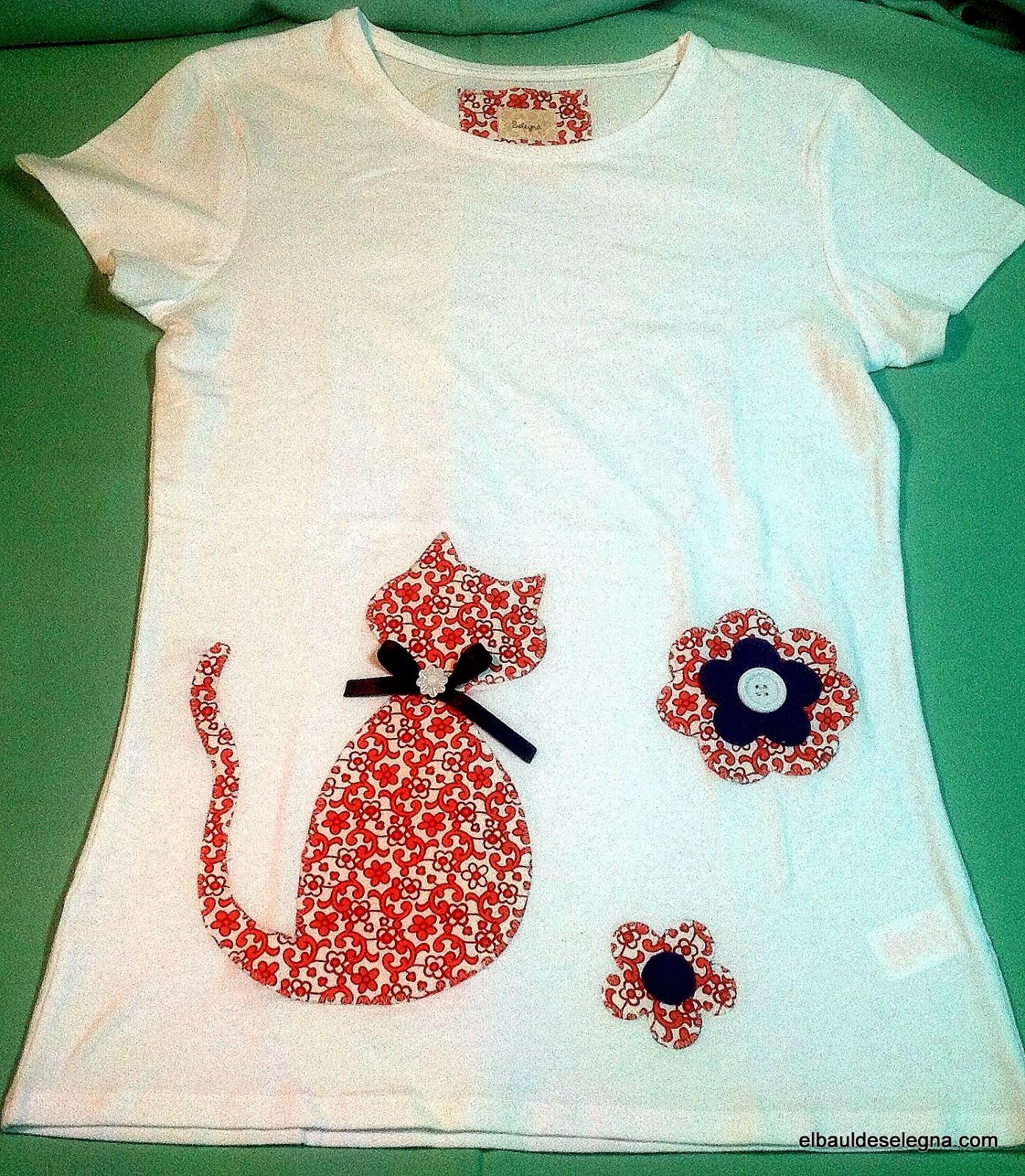 Camiseta gato guay flores
