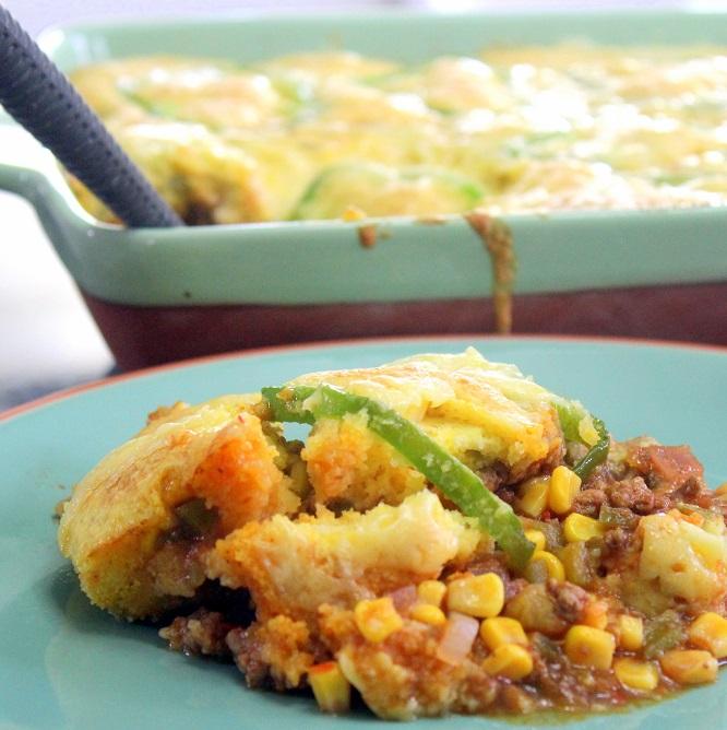 Ordinary Main Dish For A Potluck Part - 8: Taco Corn Bread Casserole - Church PotLuck Main Dish