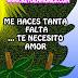 Necesito de tu amor