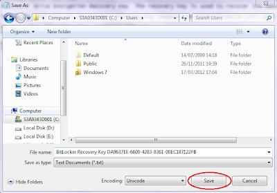 Fungsi BitLocker Pada Windows 7 dan cara mengaktifkan serta penggunaan BitLocker