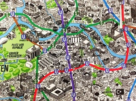 http://www.jennisparks.com/Hand-Drawn-Map-of-Berlin