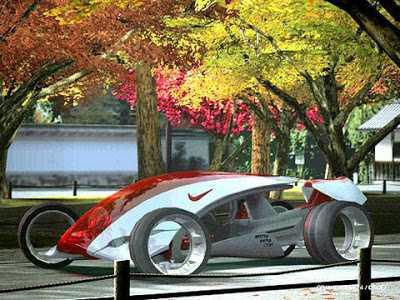Desain Konsep Mobil Unik Futuristic