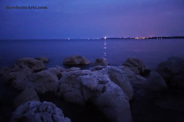 lighthouse Adriatic Sea Umag Croatia dawn