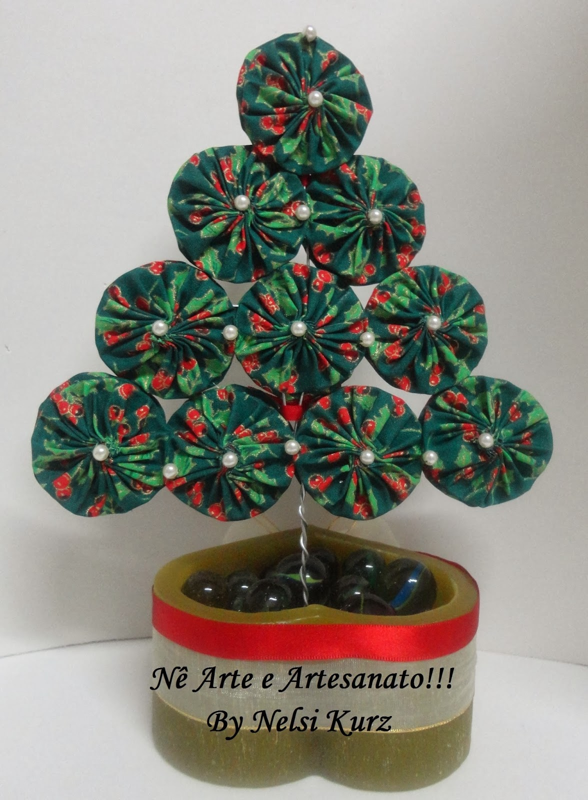 !!! By Nelsi Kurz: Árvore de Natal com Fuxico para Escritório #AE1D1F 1176x1600
