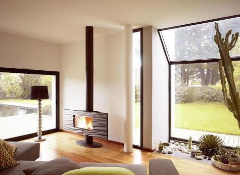 Decoraci n minimalista y contempor nea chimeneas modernas - Decoracion moderna minimalista ...