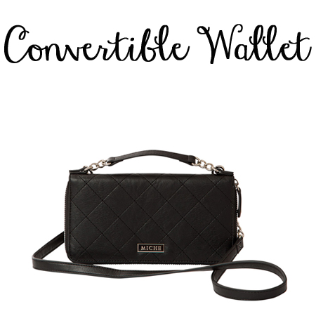 Miche Black Convertible Wallet available at MyStylePurses.com