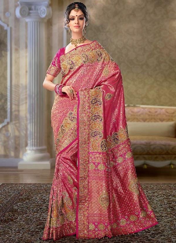 latest indian wedding sarees - photo #4