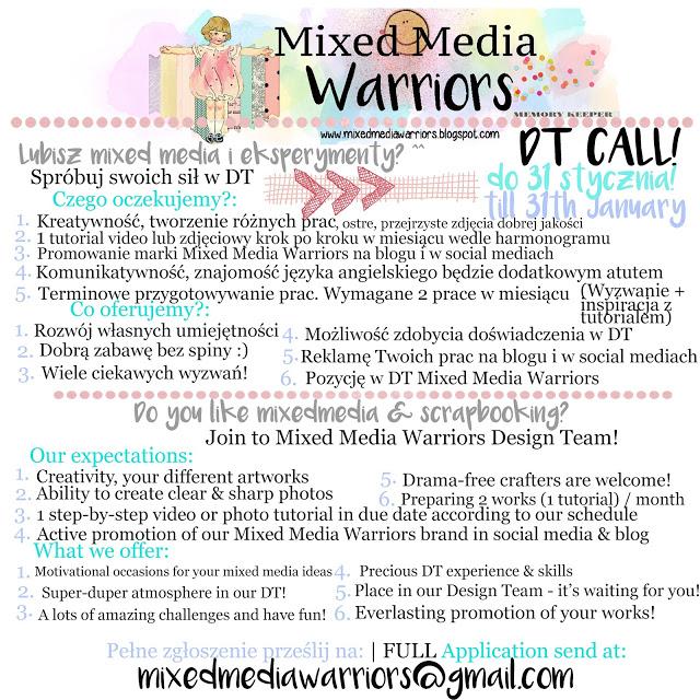 DT CALL MIXED MEDIA WARRIORS