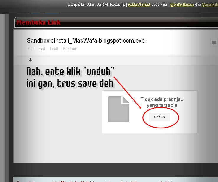 Cara Download di MasWafa Blog (Download Software, Cheat, Film, dsb) 3