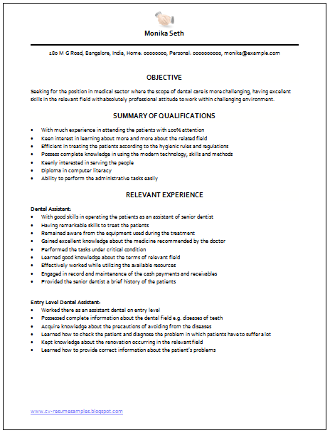 ... and Resume Samples with Free Download: Medical Assistant Resume Sample