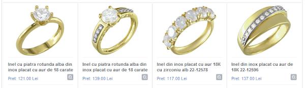 bijuterii inele aur si inox pentru ziua indragostitilor valentines day