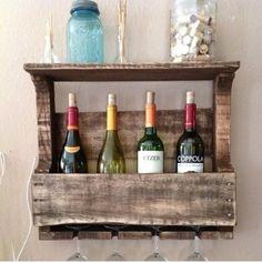 Con decoro muebles de palets - Muebles para poner botellas de vino ...