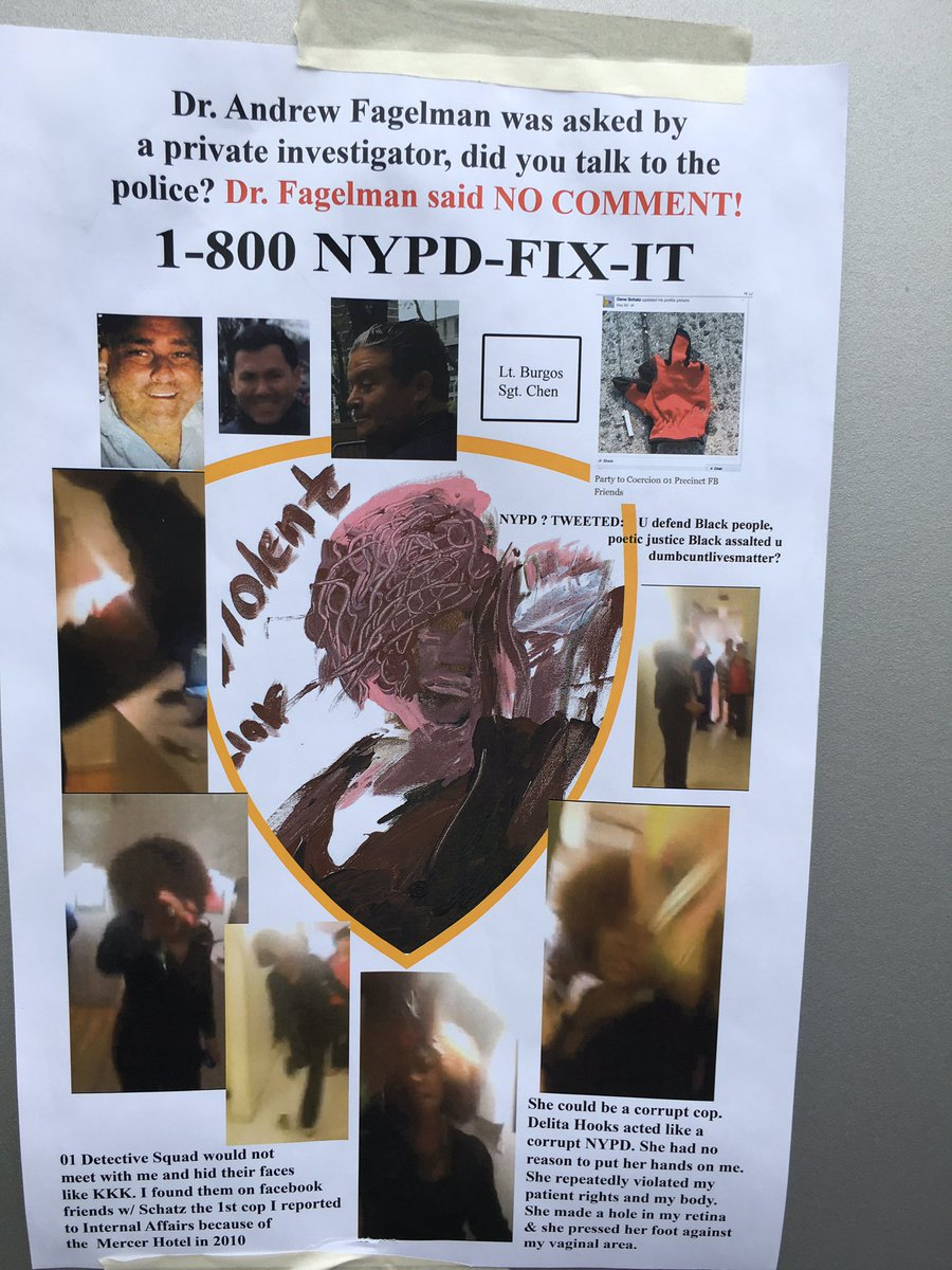 NYPD 1-800-NYPD Fix it Poster