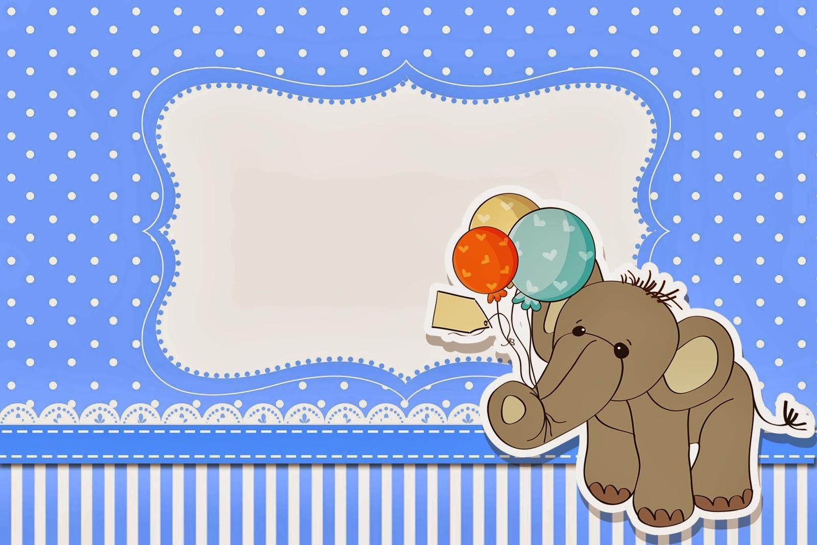 Kit de festa completo gratuito para imprimir com tema Elefante para