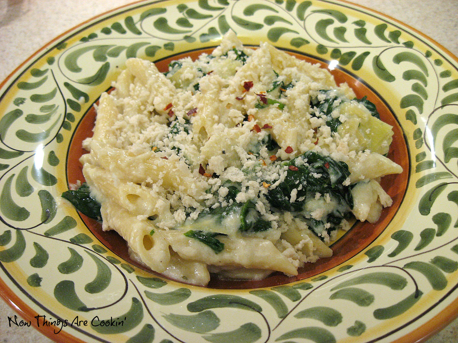 ... Things are Cookin': Weekend Recipe Review - Spinach Artichoke Pasta