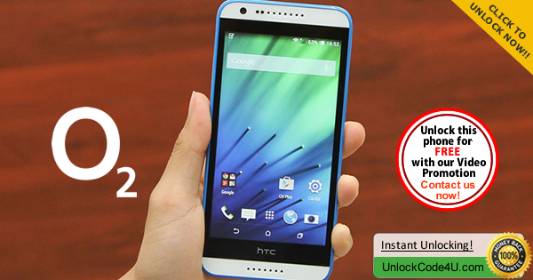 Factory Unlock Code HTC Desire 620 from O2