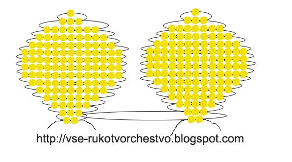 Цветок георгин из бисера схема