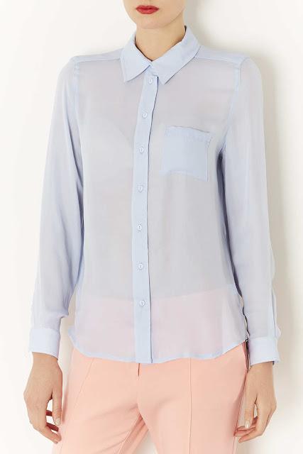 pale blue shirt