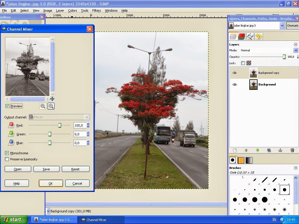 Membuat Gambar Effect Selective Color Dengan GIMP 5