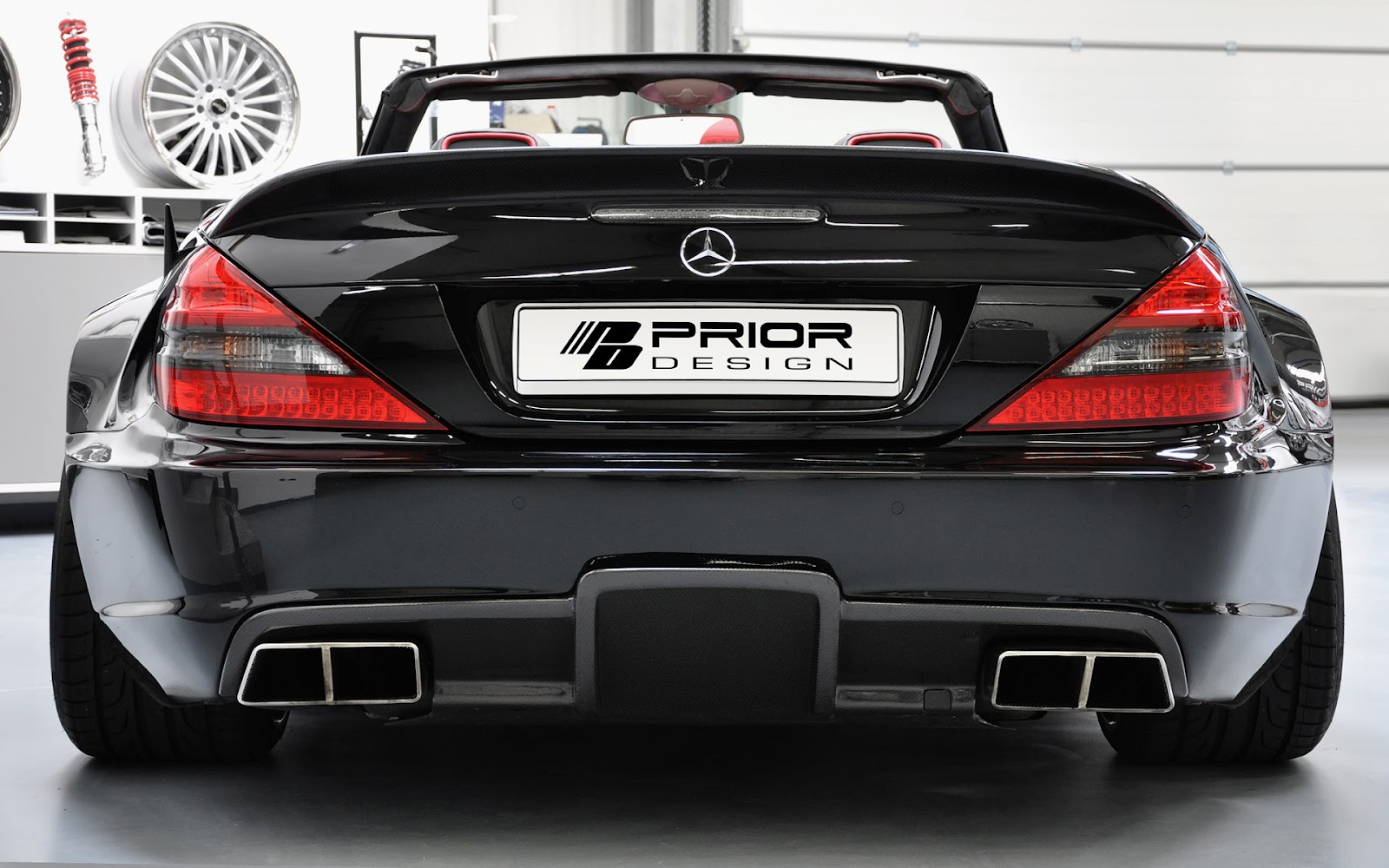 wallpapers of beautiful cars  mercedes benz sl r230 black edition by prior design