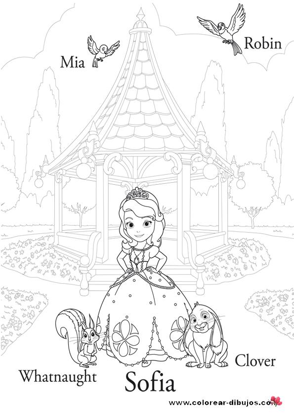 LAMINAS PARA COLOREAR - COLORING PAGES: La Princesita Sofia para ...