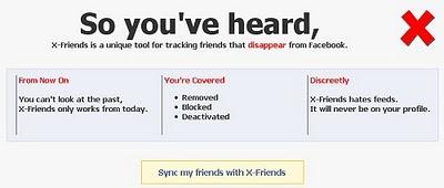 X-friends alat untuk mengetahui teman yang menghapus akun anda