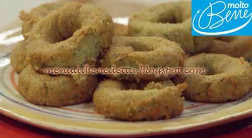 Ciambelline di zucchine ricetta Parodi per Molto Bene su Real Time