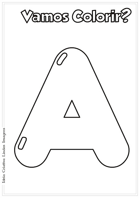 Alfabeto para colorir - Vogal A