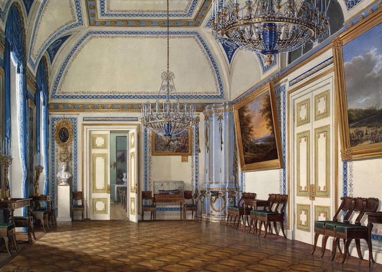 Gods And Foolish Grandeur: Blue Rooms   Watercolors Of Winter Palace  Interiors By Edward Petrovich Hau